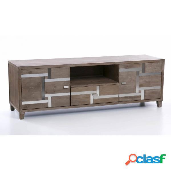 Mueble De Tv Natural Madera Y Mdf 160 X 45 60