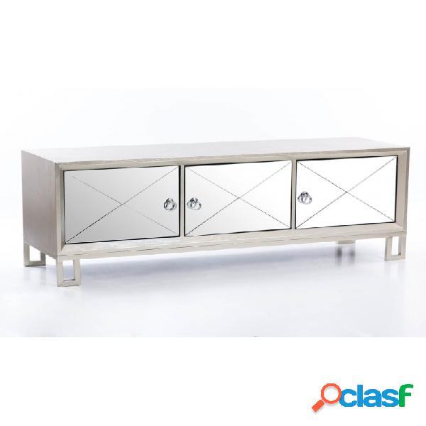 Mueble De Tv Natural Madera Y Mdf 170 X 40 64