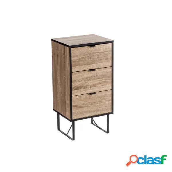 Mueble auxiliar universal 3 cajones mdf y metal