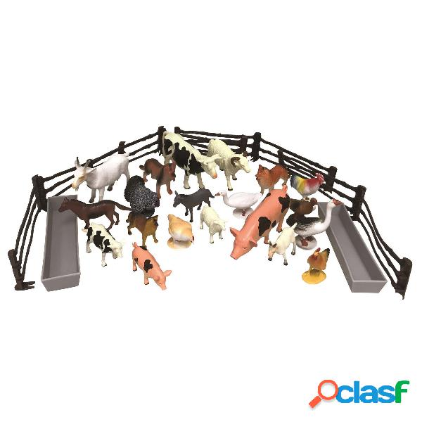 National G. Cubo Animales Granja 30 Pcs
