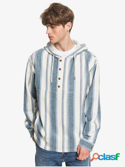 Neo Blue - Camisa de Franela con Capucha para Hombre - Azul