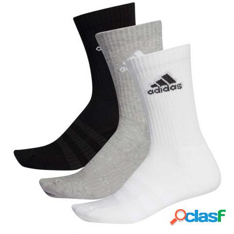 Pack 3 Calcetines Adidas Cush Blanco/Gris/Negro M Indefinido