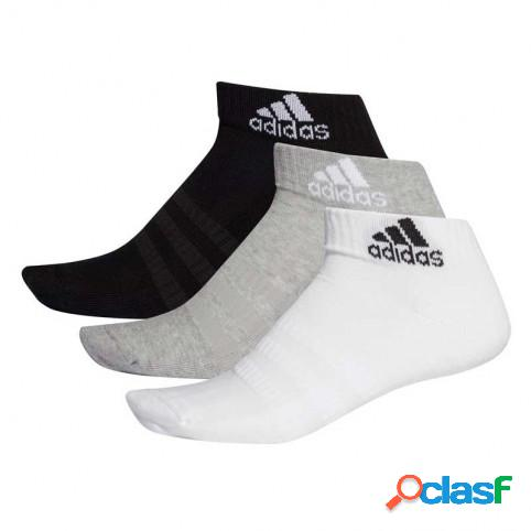 Pack 3 Calcetines Adidas Cush Cortos Blanco/Gris/Negro M