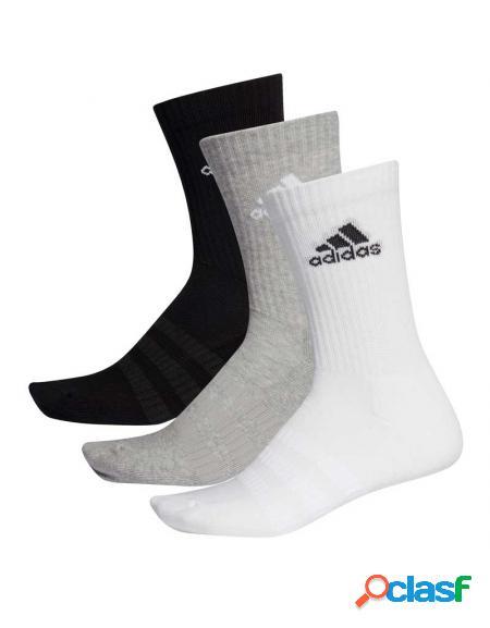 Pack 3 calcetines adidas cush blanco/gris/negro