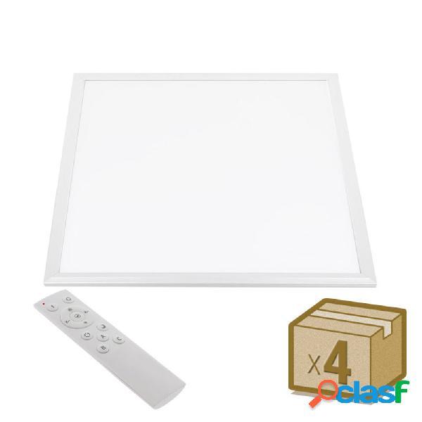 Pack 4 x panel led 45w blanco dual rf 60x60cm blanco dual