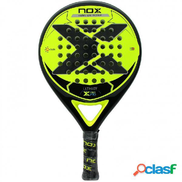 Pala de pádel Nox Ultimate Fiber Pro Yellow