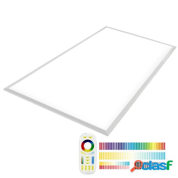 Panel led 65w rgb + blanco dual rf 60x120cm rgb + blanco