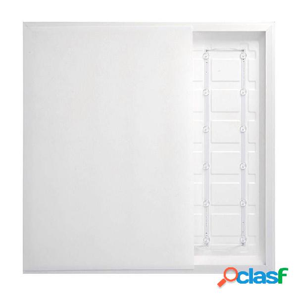 Panel led backlight 40w + tuv driver 60x60 cm marco blanco
