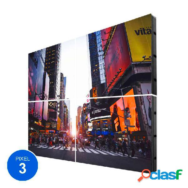 Pantalla led interior pixel 3 rgb 1.22m2 4 módulos +