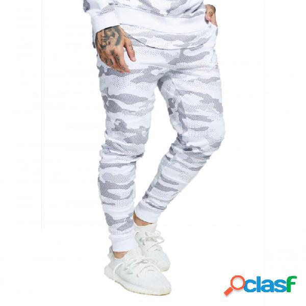 Pantalon Siksilk Camo Blanco Xl