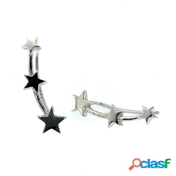 Pendientes Plata Mujer Estrellas Trepadoras 9104646