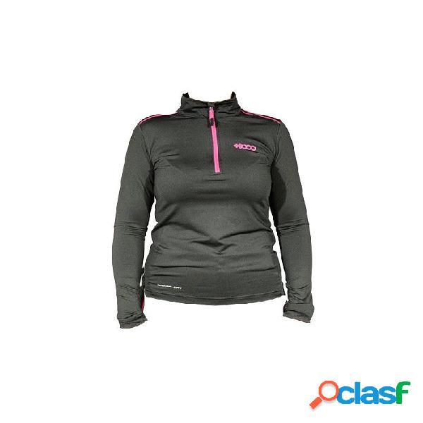Pullover Trekking +8000 Tinieblas Mujer Negro Xl