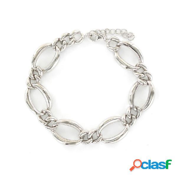 Pulsera Plata Mujer Eslabones Circonitas 9108495