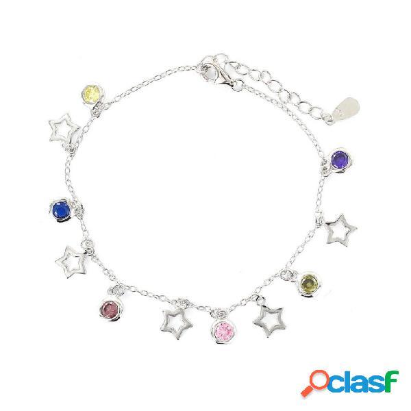 Pulsera Plata Mujer Estrella Circonitas 9108270