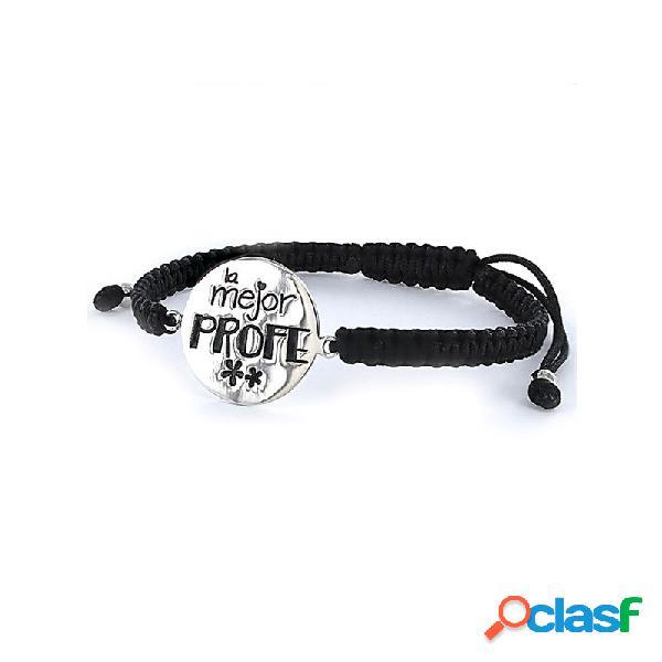 Pulsera Plata Mujer Mejor Profe 9094311