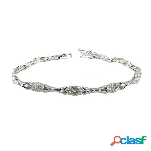 Pulsera Plata Y Circonitas Mujer Bl9002
