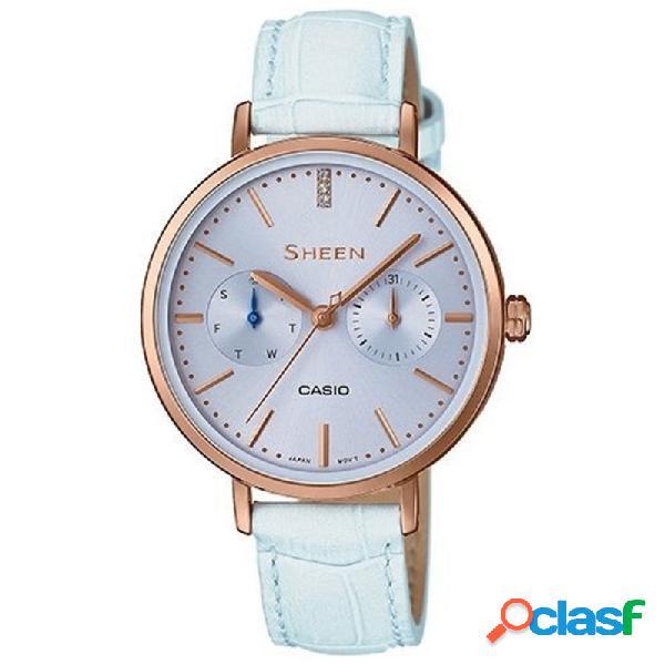 Reloj Casio Sheen Mujer Multifunción She-3054pgl-2auer