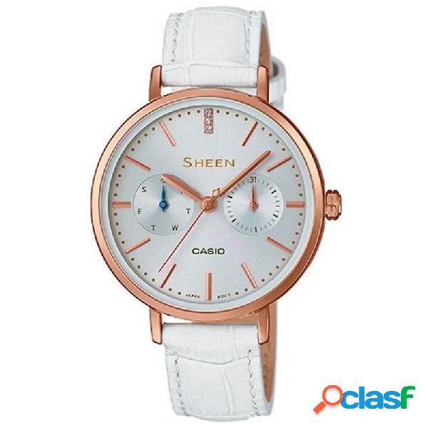 Reloj Casio Sheen Mujer Multifunción She-3054pgl-7auer