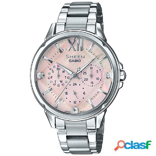 Reloj Casio Sheen Mujer Multifunción She-3056d-4auer