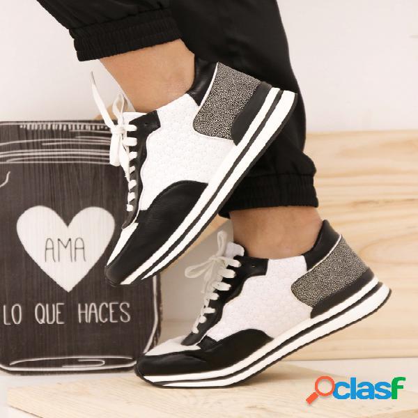 Sneakers Yerry - Negro/Blanco