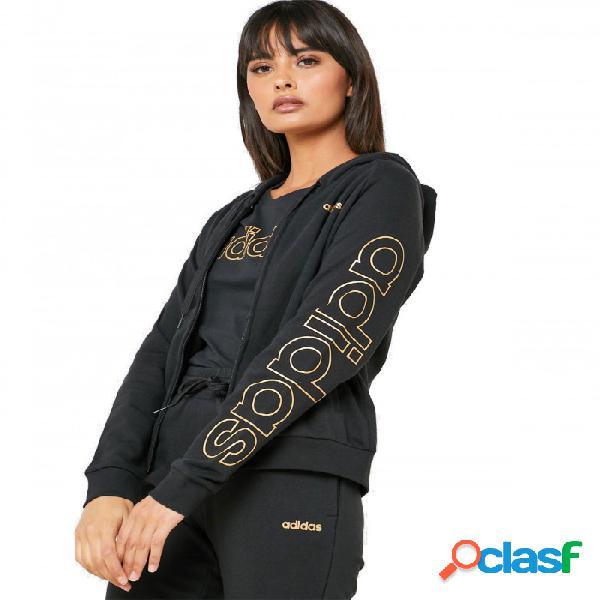 Sudadera Adidas W E Brand Hd Tt M Medium Negro