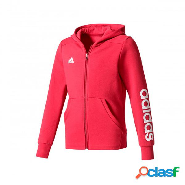 Sudadera Adidas Yg Linear Fz Hd 4-5a Rojo
