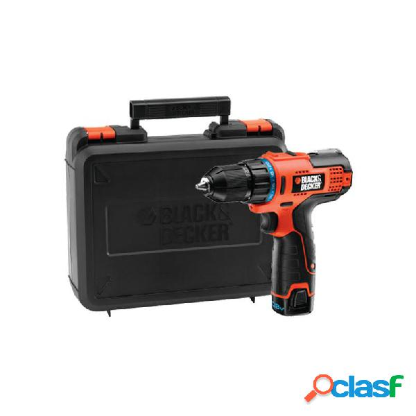 Taladro bateria blackdecker hpl106k 10,8v 1,3ah litio