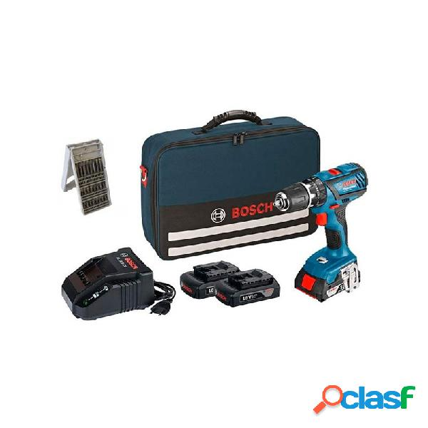 Taladro bateria bosch percutor gsb 18-2-li plus 3 baterias