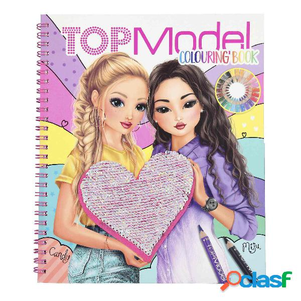 TopModel Libro Para Colorear Con Lentejuelas