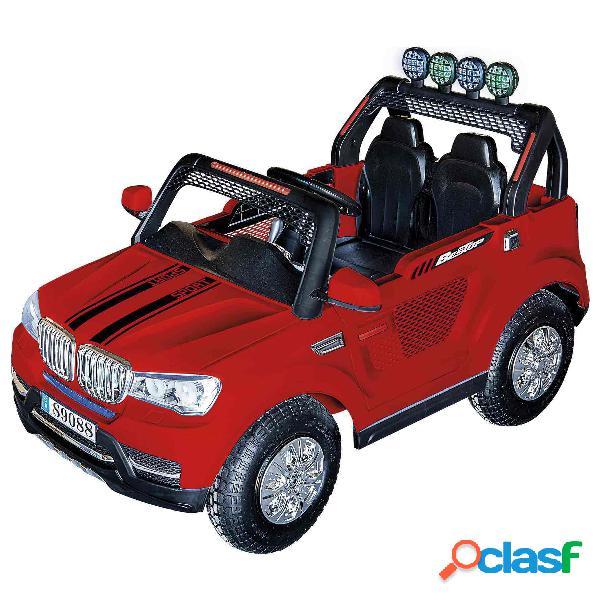 Vehículo Todoterreno Radio Control 12V Rojo con altavoz