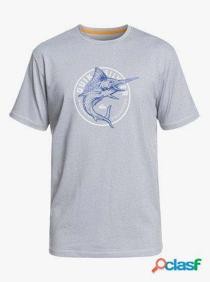 Waterman Watermarked - Camiseta de Surf con UPF 50 para
