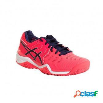 Zapatillas de padel asics gel resolution 7 clay diva rosa