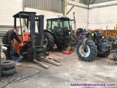 Mantenimiento de tractores y carretillas elevadoras