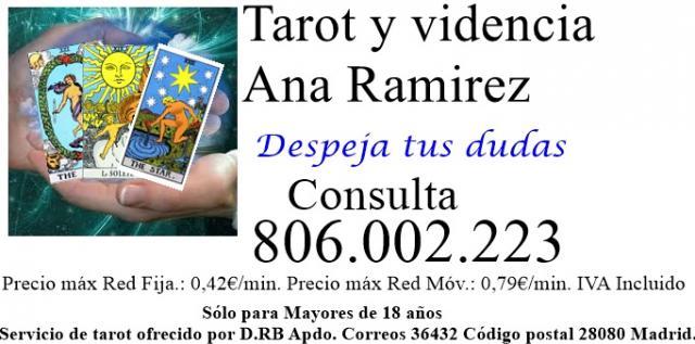 Tarot economico de Ana Ramirez 0.42 cents el minuto