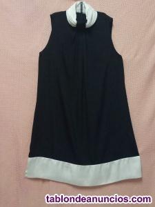 Vestido negro de zara, cuello halter, t. Xl