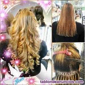 Oferta de extensiones de pelo natural. 180 €