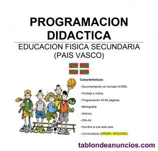 Programación educación física secundaria (pais vasco)
