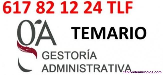 Temario gestor administrativo  prueba de acceso