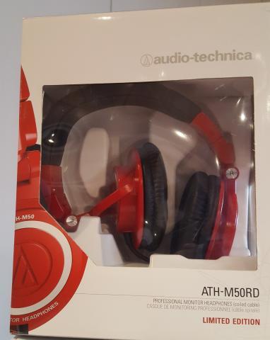 Auriculares AUDIO TECHNICA ATH-M50RD, SIN ESTRENAR