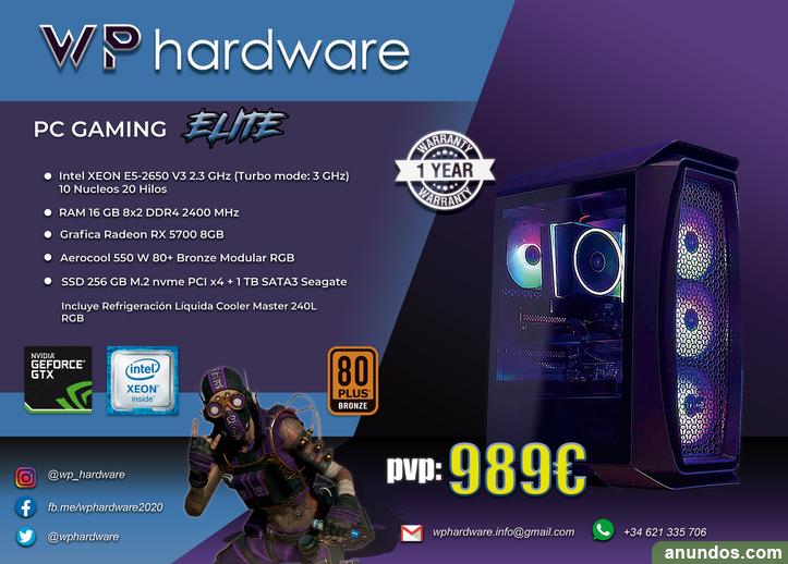 Pc gaming intel xeon elite (producto nuevo) - Madrid Ciudad