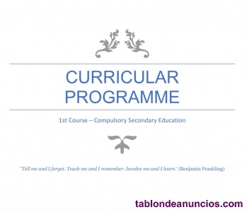 Programación inglés secundaria cataluña