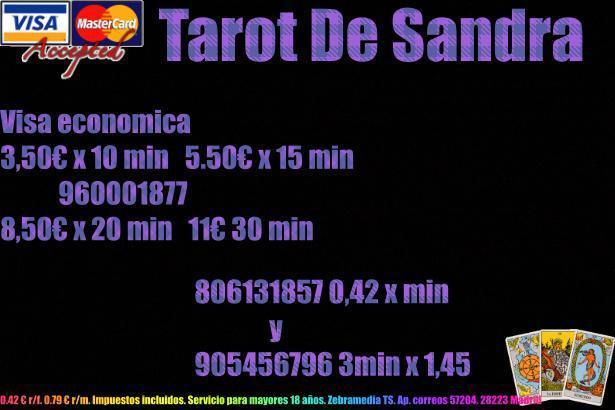 Tarot muy barato sin gabiente 3,50 x 10 min o  0,42