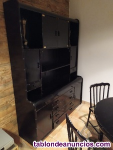 Conjunto salón comedor negro