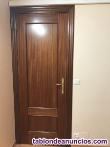 Puertas de interior macizas en sapelly