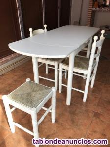 Vendo mesa extensible y sillas 100 euros
