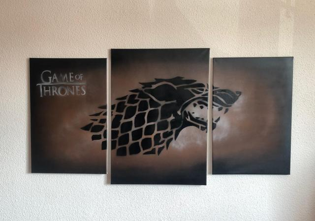 Tríptico de La Casa Stark de la serie Juego de Tronos