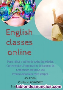 Clases de inglés online. Improve your english in a fun way!