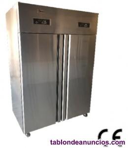 Armario 2 puertas refrigeracion de acero inox