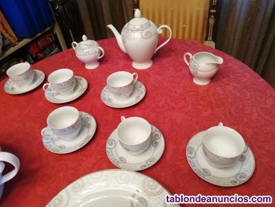 Oportunidad a estrenar vajilla porcelana fina y juego cafe