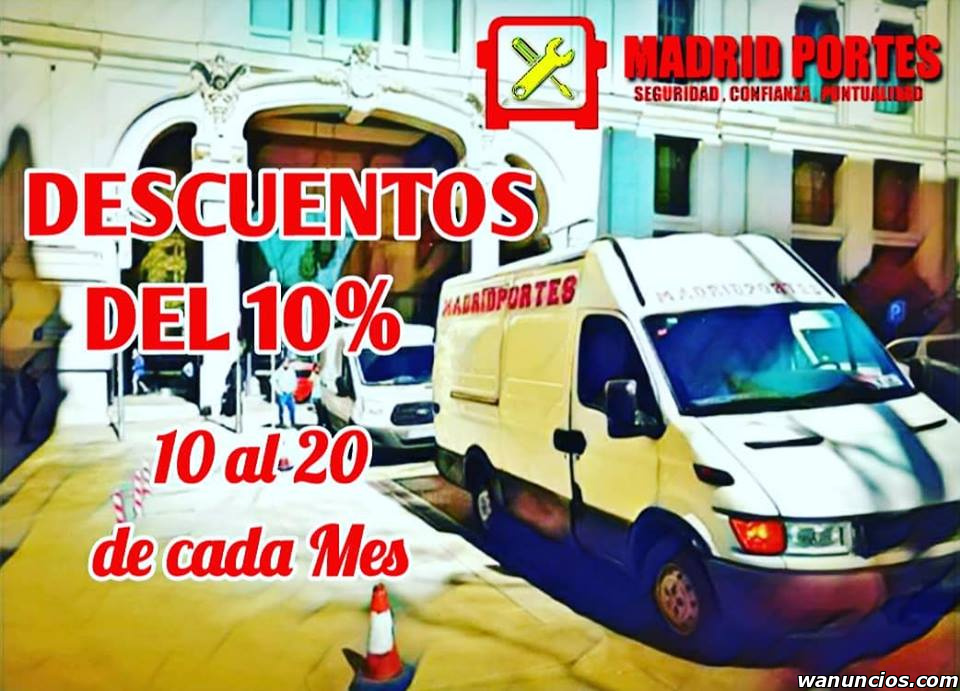 PORTES BARATOS )TRASLADOS CON PROTECCION - Madrid